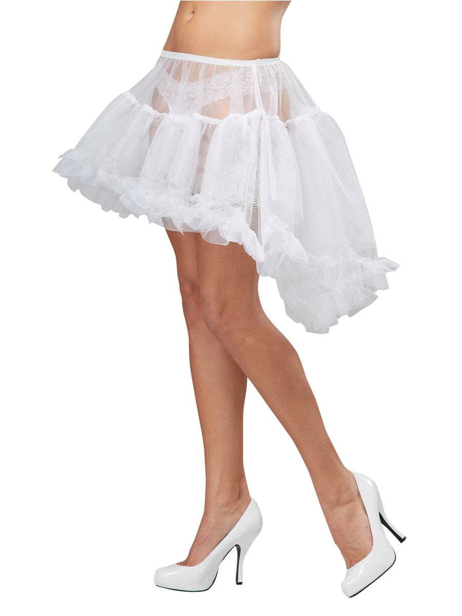 White Hi Lo Pettiskirt 60579 Fancy Dress Ball