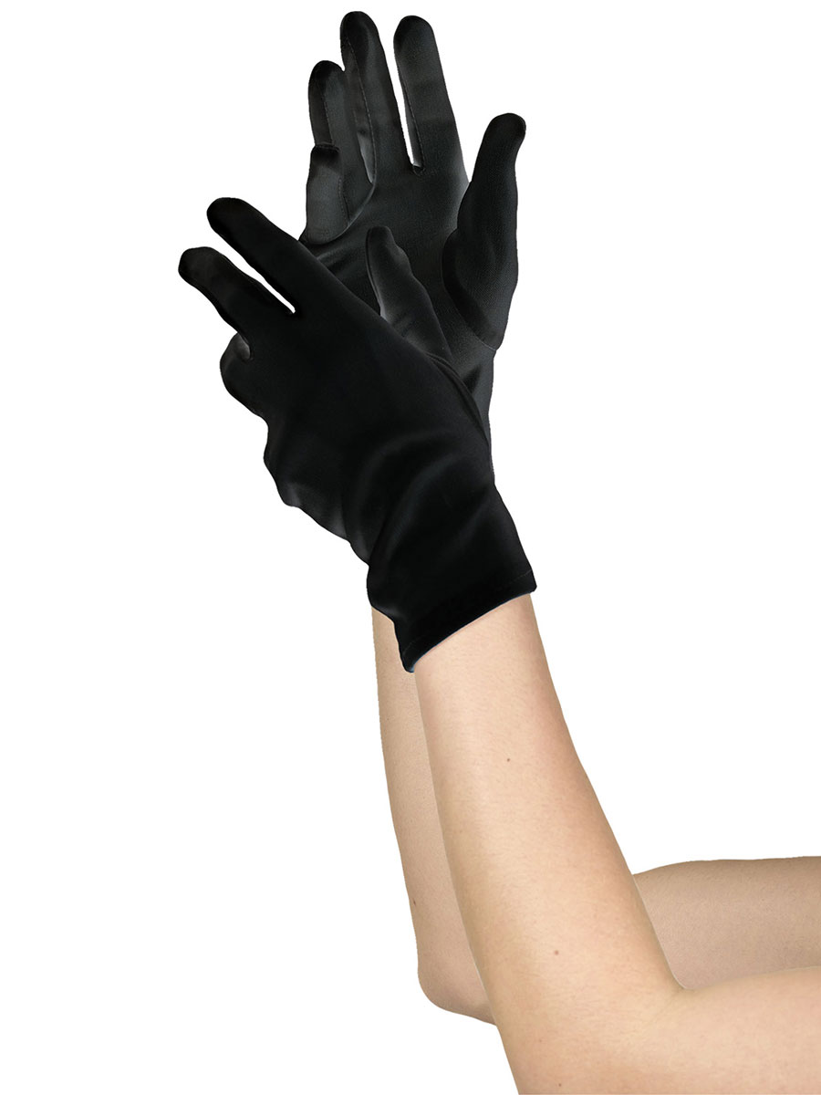 Ladies Short Black Gloves 840211 55 Fancy Dress Ball
