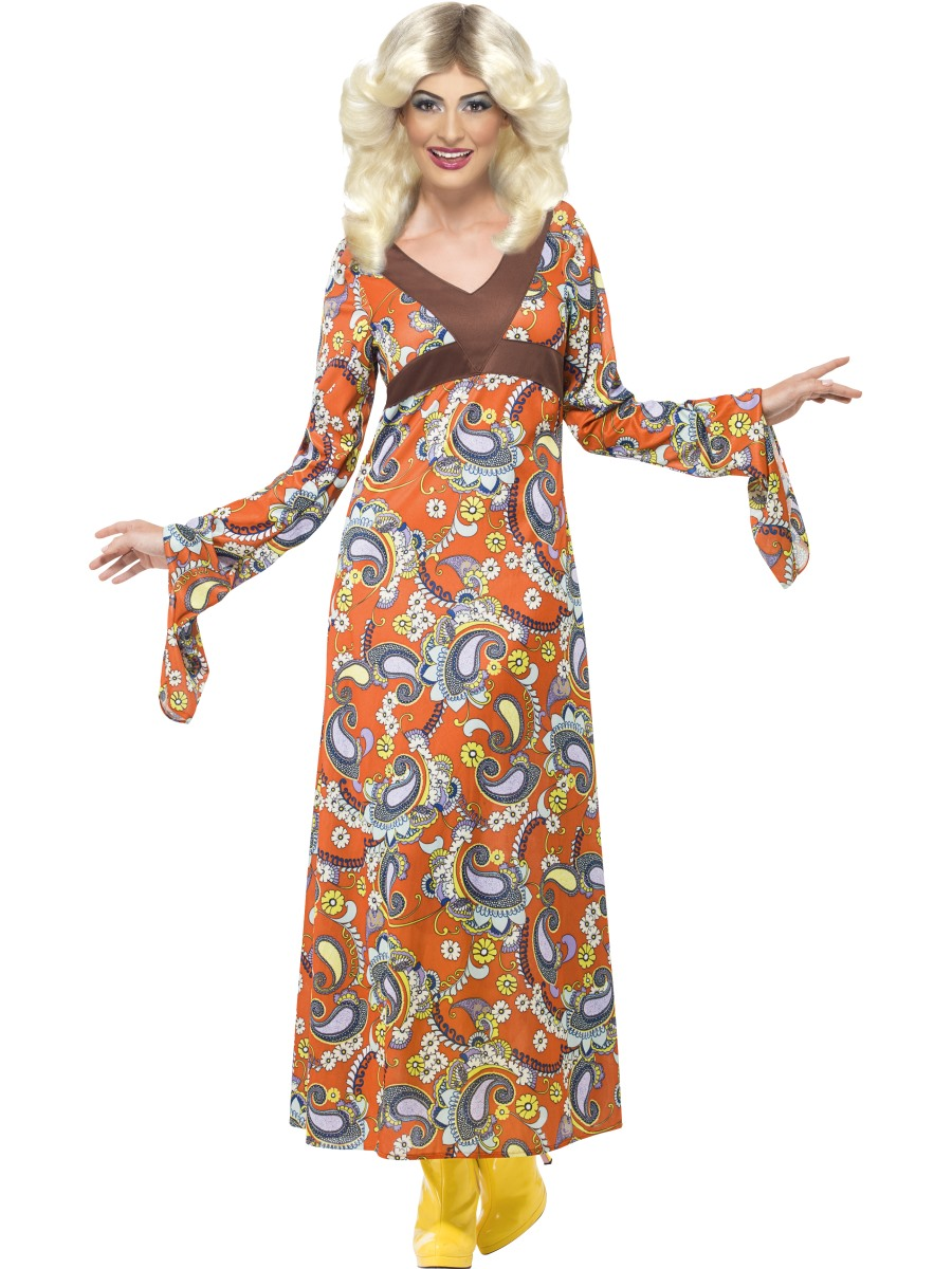 adult woodstock maxi dress costume  43832  fancy dress ball