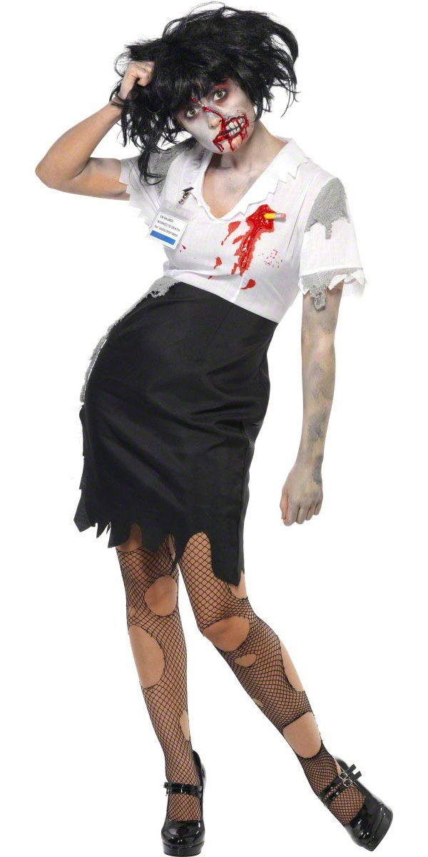adult worked to death zombie female costume 21584 fancy dress ball. Black Bedroom Furniture Sets. Home Design Ideas