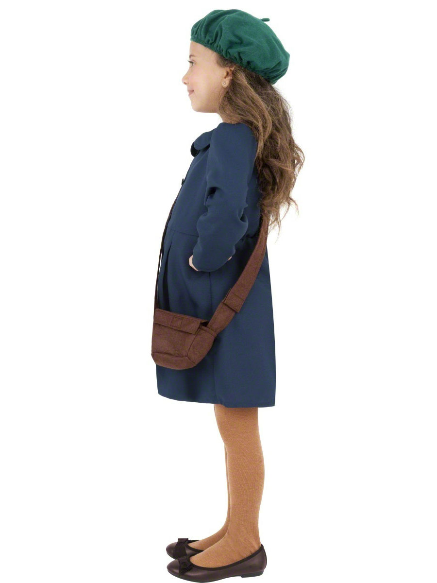 9e717769609f Child World War II Evacuee Girl Costume - Back View · VIEW FULL IMAGE