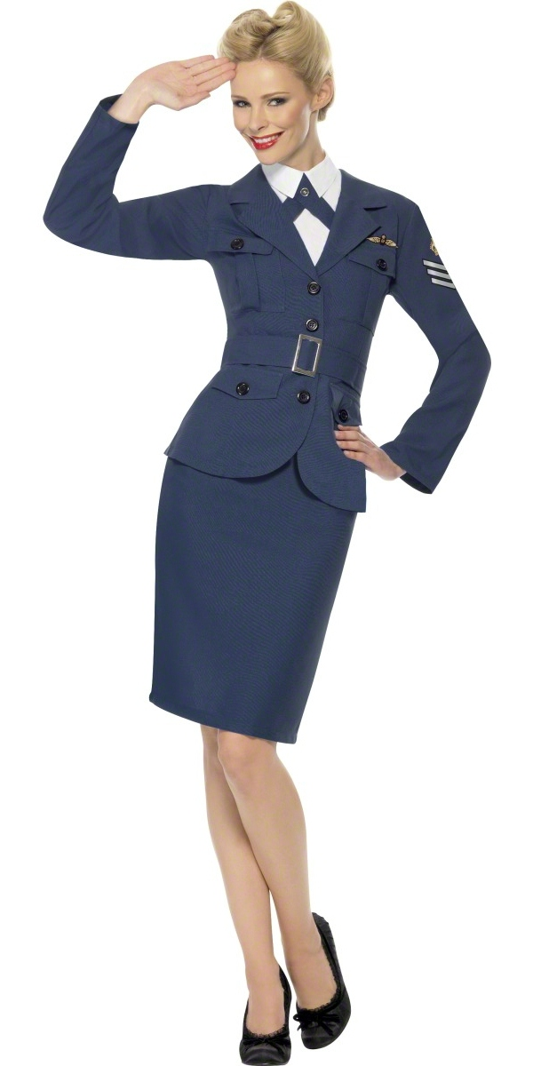 e71eefc846f1 Adult WW2 Air Force Female Captain Costume - 35527 - Fancy Dress Ball