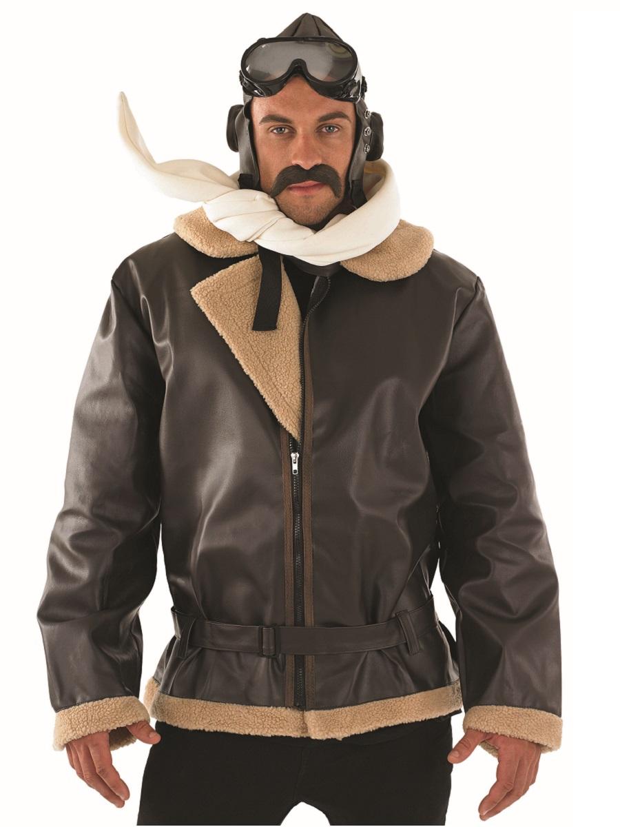 Adult Biggles Ww2 Wartime Fighter Pilot Costume Fs2384