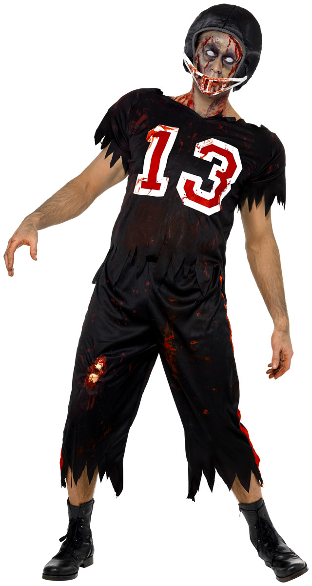 adult zombie american footballer costume 32908 fancy dress ball. Black Bedroom Furniture Sets. Home Design Ideas