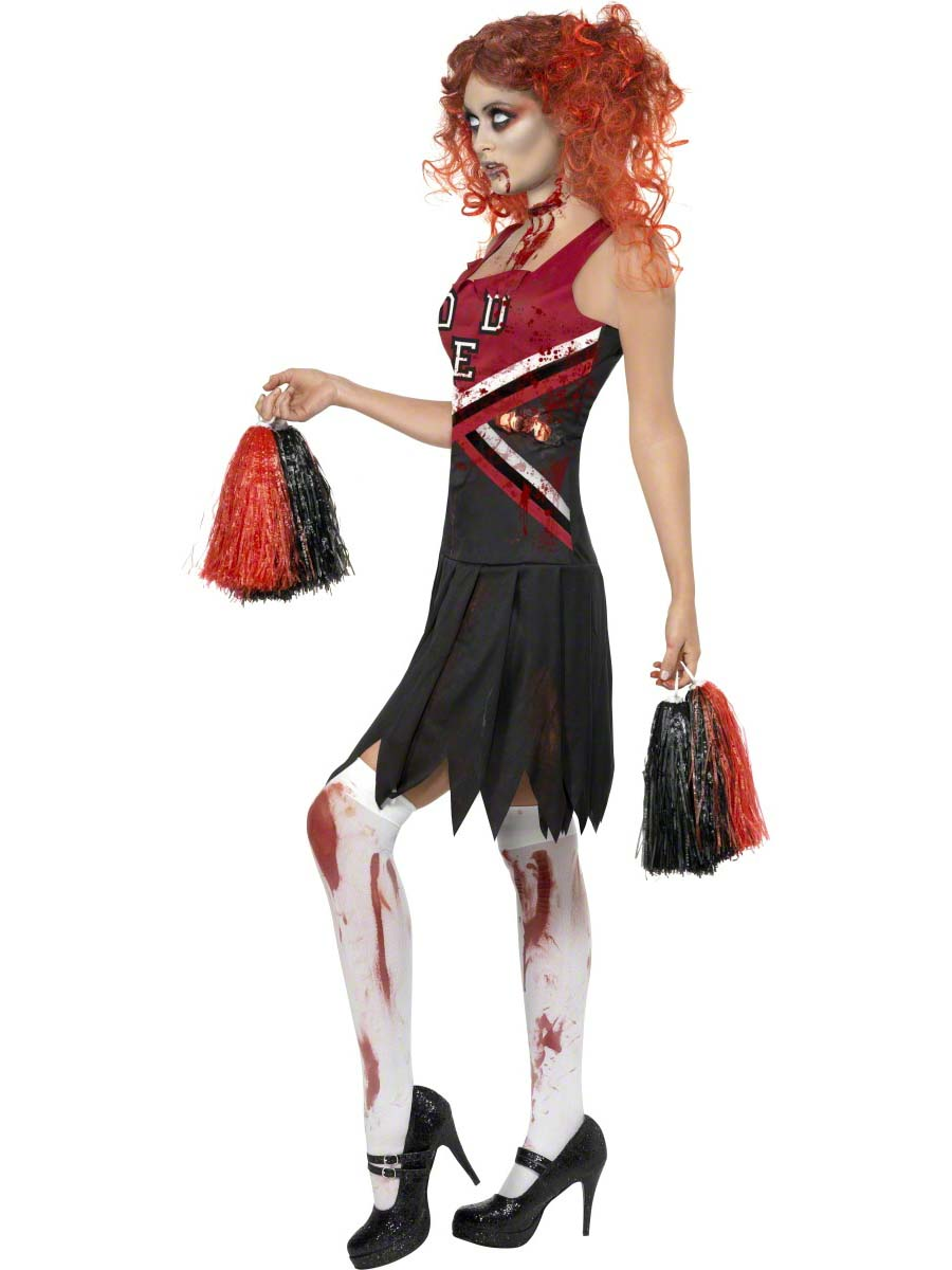 Adult Zombie Cheerleader Costume 32902 Fancy Dress Ball