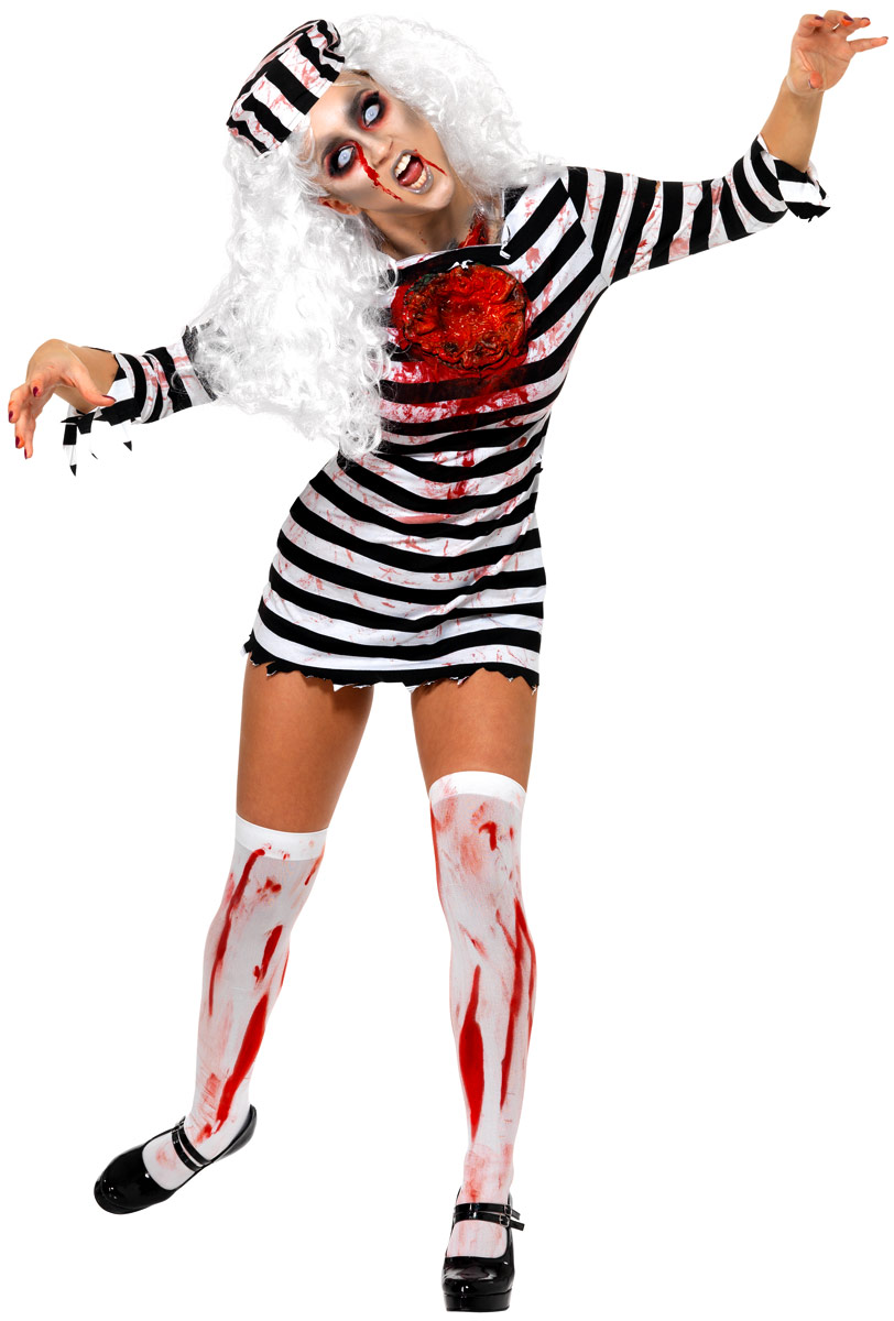 Adult Zombie Convict Lady Costume - 34131 - Fancy Dress Ball