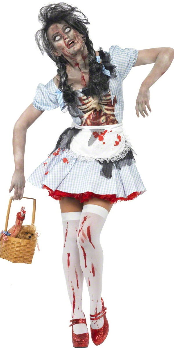 adult zombie dorothy costume 21579 fancy dress ball. Black Bedroom Furniture Sets. Home Design Ideas