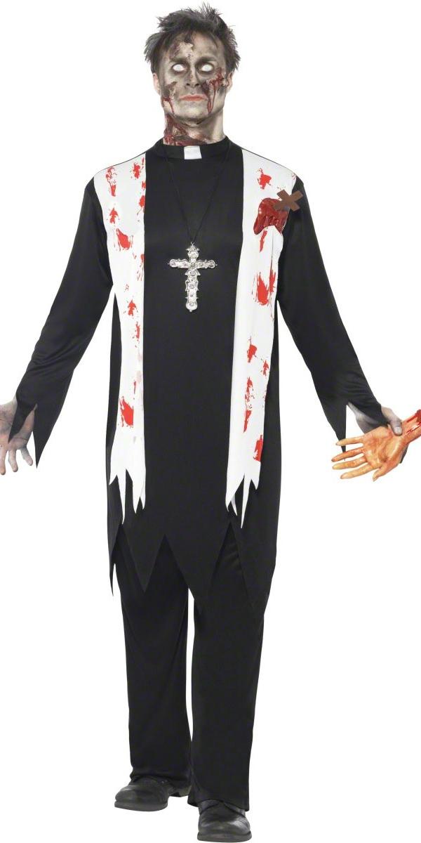 adult zombie priest costume 38878 fancy dress ball. Black Bedroom Furniture Sets. Home Design Ideas