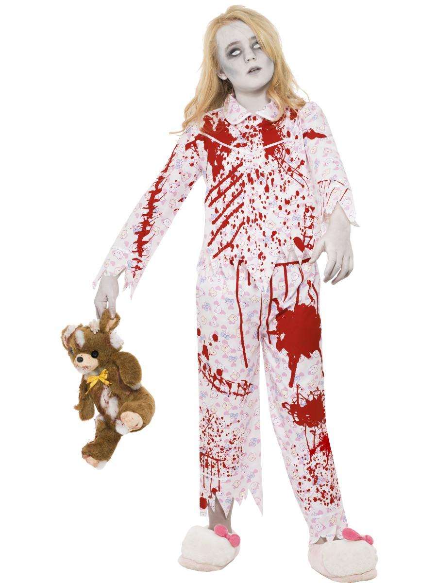 Child zombie pyjama girl costume 24379 fancy dress ball - Costume halloween fille ...