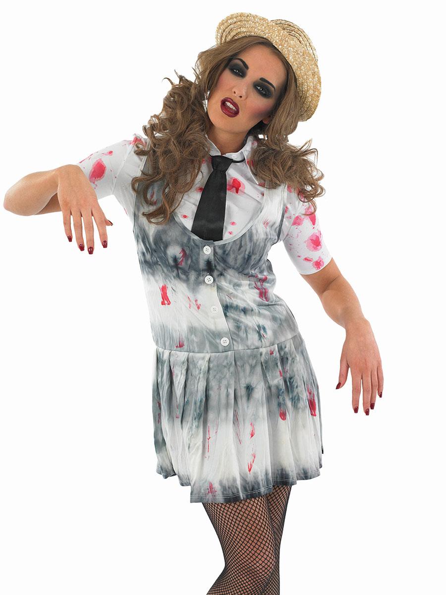 Adult Zombie School Girl Costume Fs3503 Fancy Dress Ball