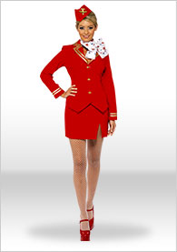 Air Hostess Fancy Dress Costume Amp Outfit Flight Attendant