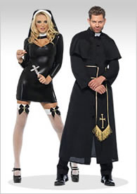 Priest Father Religious costume party//halloween