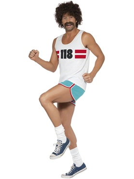 Adult 118 118 Male Runner Costume