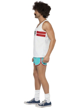 Adult 118 118 Male Runner Costume - Side View