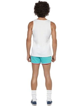 Adult 118 118 Male Runner Costume - Back View
