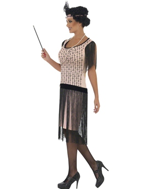 Adult 1920's Coco Flapper Costume - Back View