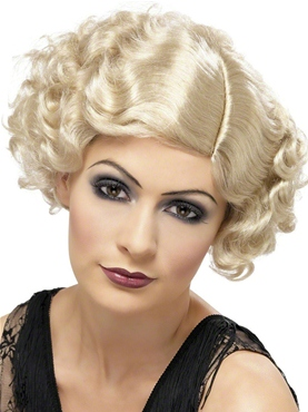 1920's Flapper Curly Blonde Wig