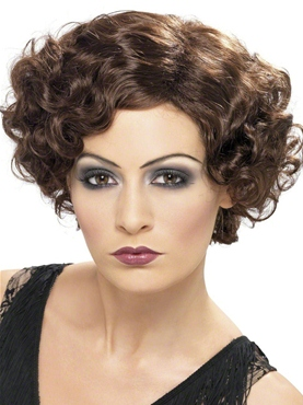 1920s Flapper Wig Brown