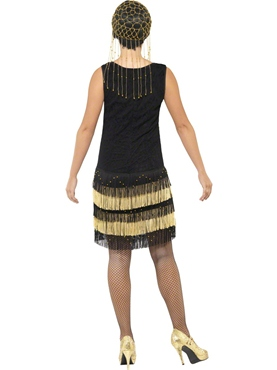 Adult 1920's Fringed Flapper Costume - Side View