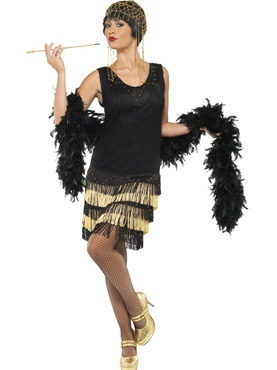 Adult 1920's Fringed Flapper Costume