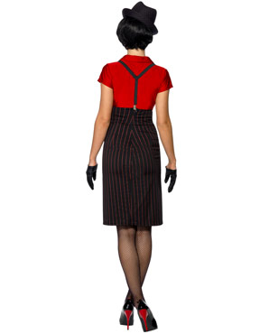 Adult 1920's Ladies Gangster Costume - Back View