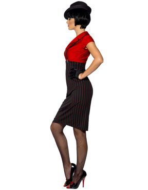 Adult 1920's Ladies Gangster Costume - Side View