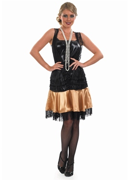 Adult 1920's Party Dress Costume - Back View