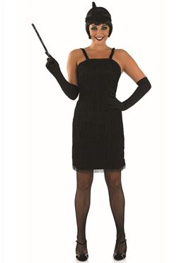 Adult 20s Roaring Black Flapper Costume
