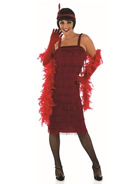Adult 20s Roaring Red Flapper Costume