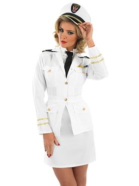 Adult 1940s Lady Naval Officer Costume