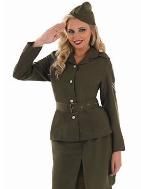 Adult World War 2 Army Girl Costume Thumbnail