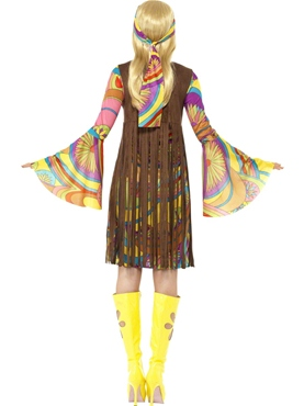 Adult 1960's Groovy Lady Costume - Side View