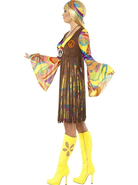Adult 1960's Groovy Lady Costume - Back View