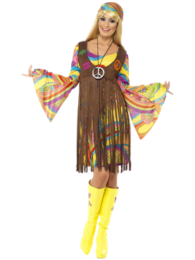 Adult 1960's Groovy Lady Costume Couples Costume