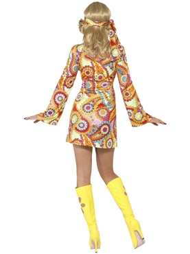 Adult 1960's Hippy Costume - Back View