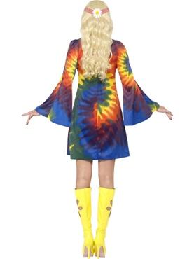 Adult 1960s Ladies Tie Dye Costume - Side View
