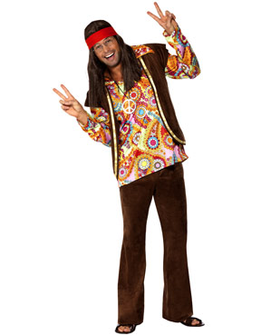 Adult 1960s Psychedelic Hippy Costume