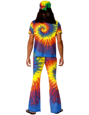 Adult 1960's Tie Dye Costume - Back View