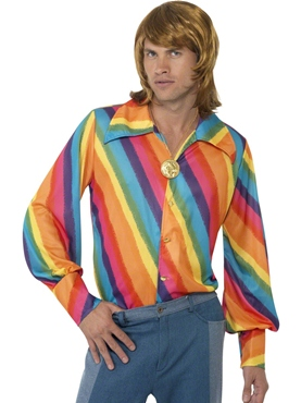 Adult 1970s Rainbow Shirt Thumbnail
