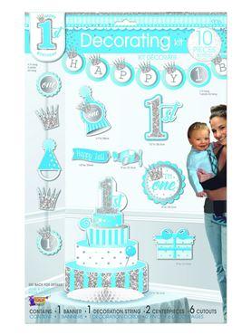 1st Birthday Boy Decorating Kit
