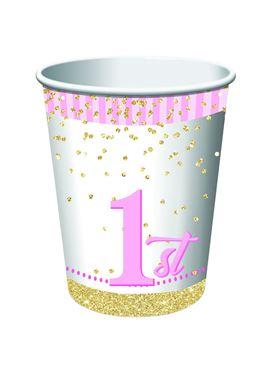 1st Birthday Girl Cups