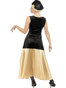 Adult 20's Gatsby Girl Costume - Side View