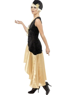 Adult 20's Gatsby Girl Costume - Back View