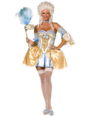 Adult 5 Piece Bijou Boutique Baroque Costume