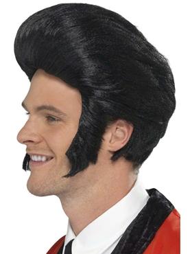 50's Black Quiff Wig