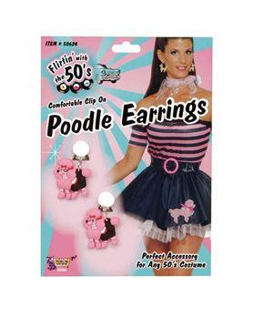 50s Poodle Earrings