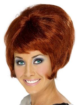60's Beehive Wig Auburn