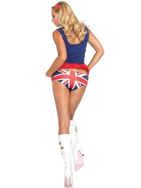 Adult 60's Cheeky Brit Costume - Back View