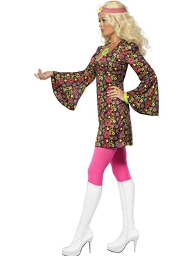 Adult 60's CND Ladies Costume - Back View