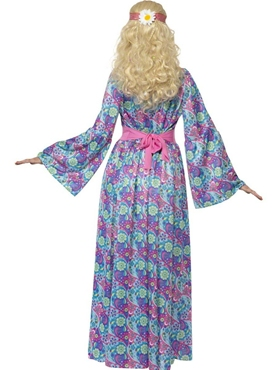 Adult 60's Flower Child Costume - Side View
